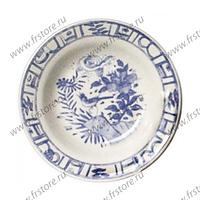 Набор из 4 тарелок для супа. Oiseau Bleu Mono