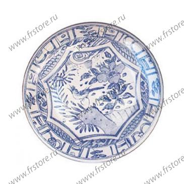 Набор из 4 тарелок для канапе. Oiseau Bleu Mono