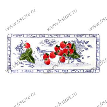 Блюдо прямоугольное. Oiseau Bleu Fruits