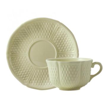 Чашка с блюдцем для завтрака. Pont aux choux Maïs