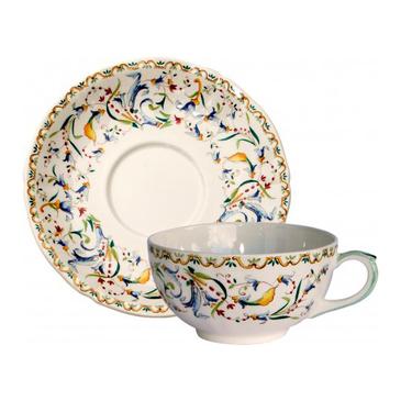 Чашка с блюдцем для завтрака. Toscana gien