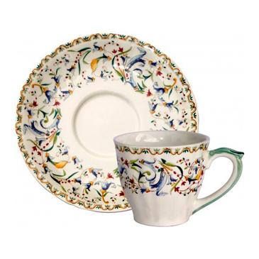 Чашка для чая с блюдцем. Toscana gien