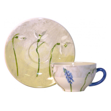 Чашка с блюдцем для завтрака. Alice gien