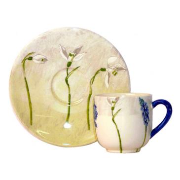 Набор из 2 чашек для кофе с блюдцем. Alice gien