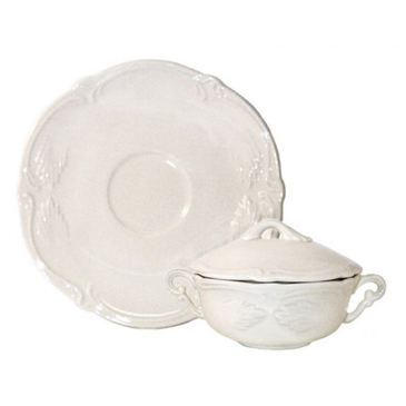 Чашка для бульона с блюдцем. Rocaille gien