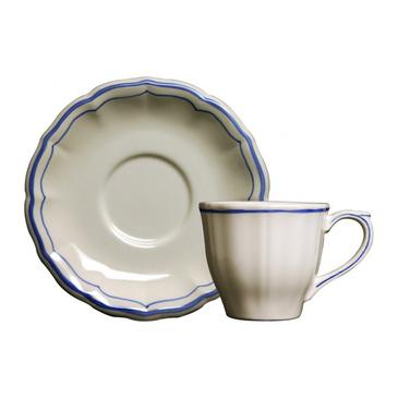 Чашка для чая с блюдцем. Filet Bleu