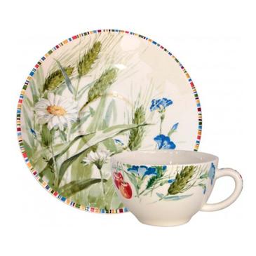 Чашка для чая с блюдцем. Cherry