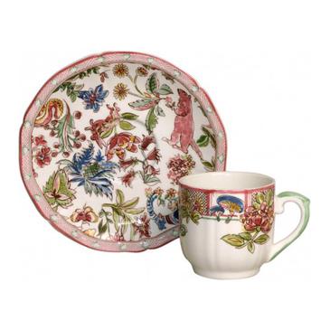 Набор из 2 чашек для кофе с блюдцами. Jardin Imaginaire
