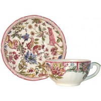 Набор из 2 чашек для чая с блюдцами. Jardin Imaginaire