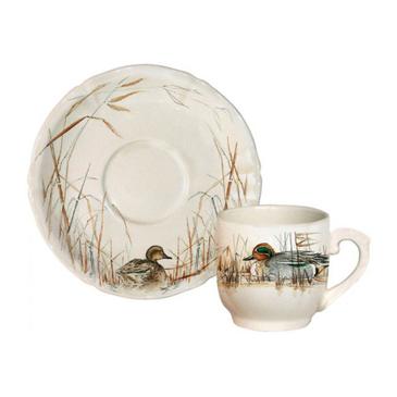 Чашка для кофе с блюдцем. Sologne gien