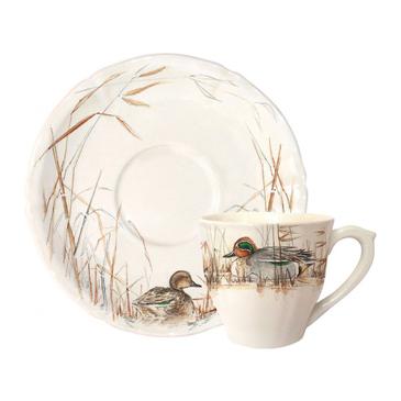 Чашка для чая с блюдцем. Sologne gien