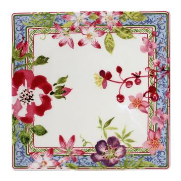 Тарелка квадратная. Millefleurs (17 см.)
