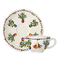 Чашка для чая с блюдцем Joyeux Noel