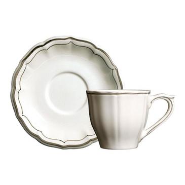 Набор из 2 чашек для чая с блюдцами. Filet taupe