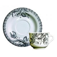 Чашка для чая с блюдцем. Tulipes noires