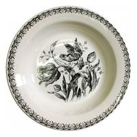 Набор из 4 тарелок для супа. Tulipes noires