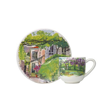 Чашка для кофе с блюдцем. Paris à Giverny.