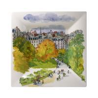 Широкое квадратное блюдо. Paris à Giverny (22 см.)