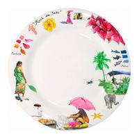 Набор из 4 обеденных тарелок. Route des Indes