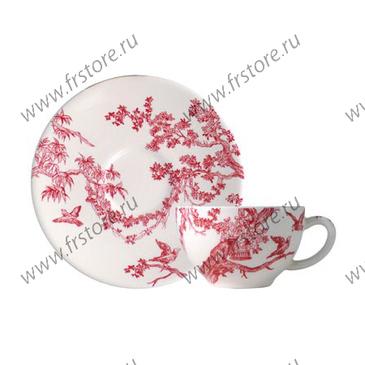 Чашка для чая с блюдцем. Delices des 4 Saisons