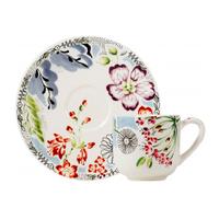 Набор из 2 чашек для кофе с блюдцами. Flora