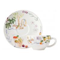 Чашка с блюдцем для завтрака. Provence gien