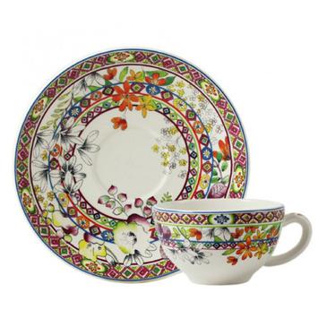 Чашка с блюдцем для завтрака. Bagatelle
