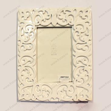 Рамка белая глянцевая для фото 10*15 см.