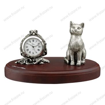 Настольные часы с котом