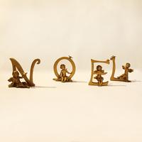 Буквы с ангелами  золото