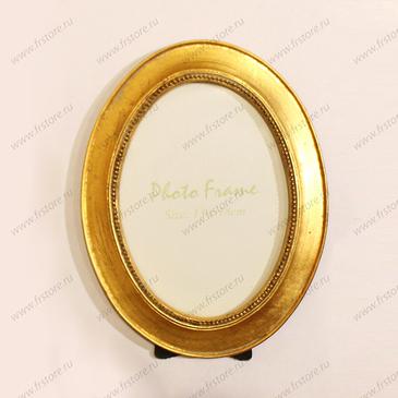 Рамка овальная золото 13*18