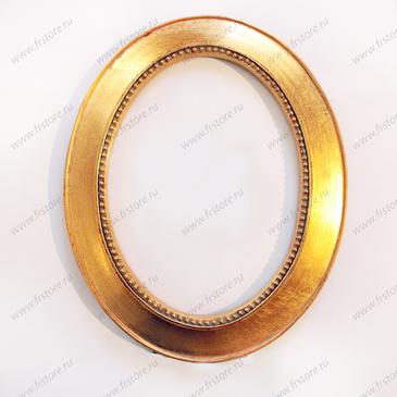 Рамка овальная золото большая