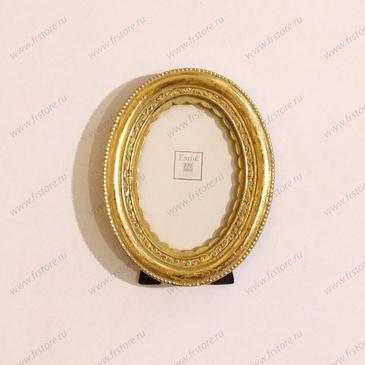 Рамка малая овальная золото