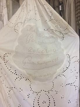 Ажурная штора с вышивкой ришелье