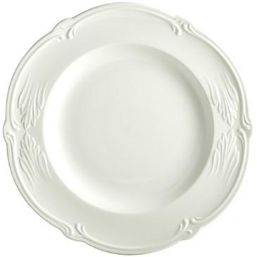 Блюдо круглое глубокое. Rocaille Blanc
