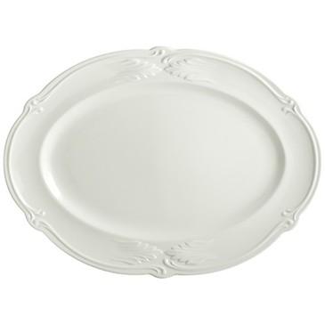 Блюдо овальное. Rocaille Blanc