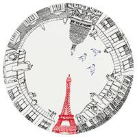 Блюдо для торта Gien коллекция Ах, этот Париж!