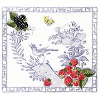 Тарелка квадратная большая. Oiseau Bleu Fruits