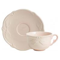 Чашка для чая с блюдцем. Rocaille Rose poudre