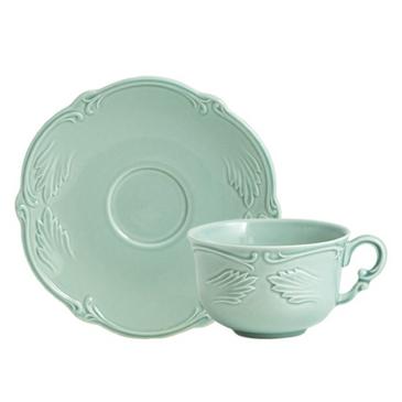 Чашка для чая с блюдцем. Rocaille Vert celadon
