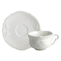 Чашка для чая с блюдцем. Rocaille Blanc