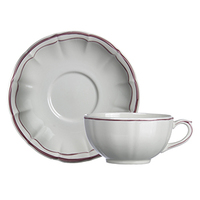 Чашка для завтрака с блюдцем. Filet Rose Gien