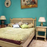 Кровать прованс с ротангом