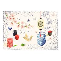 Салфетка текстильная с влагоотталкивающим покрытием. Teatime
