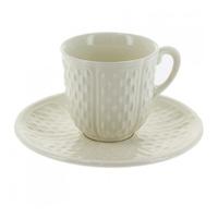 Набор из 2 чашек для кофе с блюдцами. Pont aux choux blanc