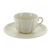 Набор из 2 чашек для чая с блюдцами. Pont aux choux blanc