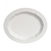 Блюдо овальное. Evol blanc