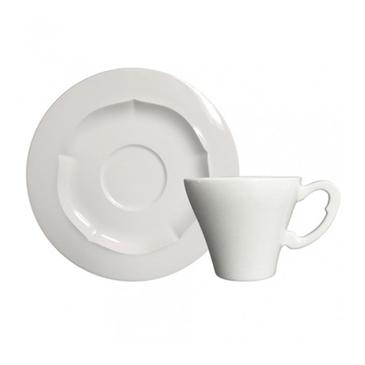 Набор из 6 чашек для чая с блюдцами. Evol blanc