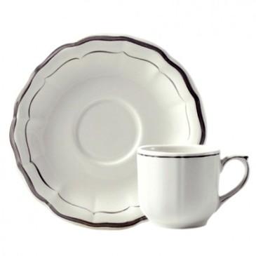 Набор из 2 чашек для кофе с блюдцами. Filet taupe