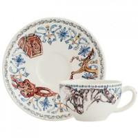Чашка для чая с блюдцем. Chevaux du Soleil